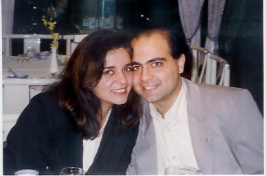 Anita Moorjani with husband in 1995.
