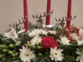 Using Christmas Accents in Christmas Flower Arrangements