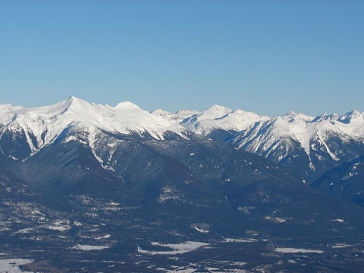 ... and the Canadian Rockies