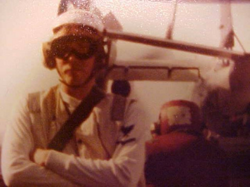Talked my way onto the flight deck of the USS Ranger.