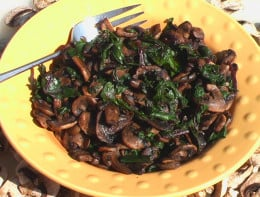 Sauteed Mushrooms and Beet Greens Source:http://www.cutnclean.com/recipes/saut%C3%A9ed-beet-greens-and-mushrooms