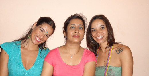 From  left - Sara, me and Joana