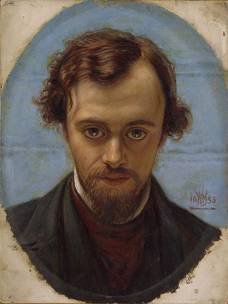 William Holman Hunt: Portrait of Dante Gabriel Rossetti (1853)