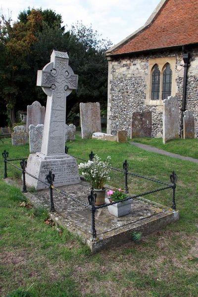 All Saints, Birchington. Kent - Grave of Dante Gabriel Rossetti