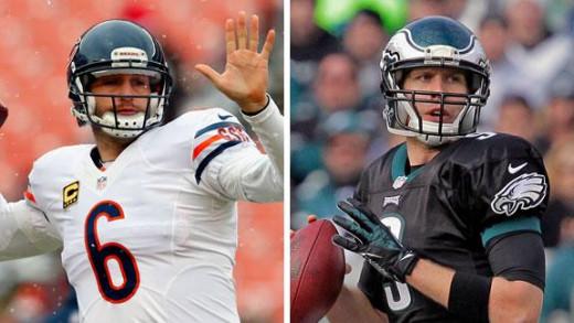 Bears QB Jay Cutler & Eagles QB Nick Foles