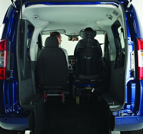 Drive-From-Wheelchair or Passenger-Up-Front Vehicle
