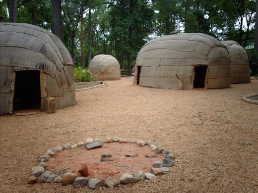 Powhatan Village re-creation
