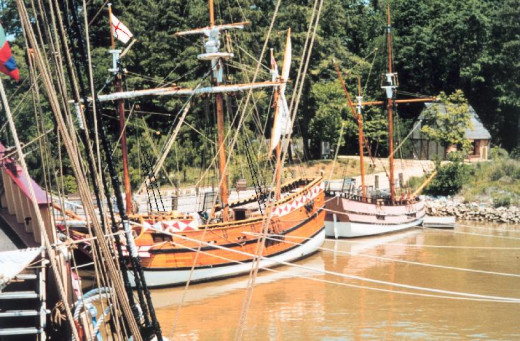 Re-constructed ships at Jamestown