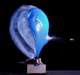 The balloon bursts