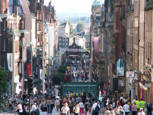 Glasgow city center is always busy but during the sales it is almost impossible to move around.