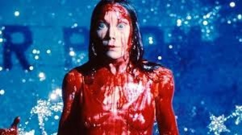 Sissy Spacek plays as Carrie in the movie based on the Stephen King's first book ever written.