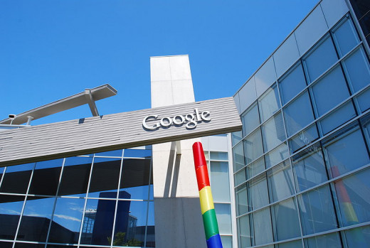 An image of Googleplex, the Google's Headquarter in Mountain View (California).