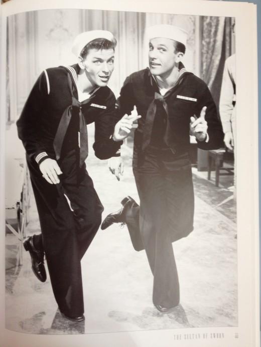 Gene Kelly (right) and Frank Sinatra