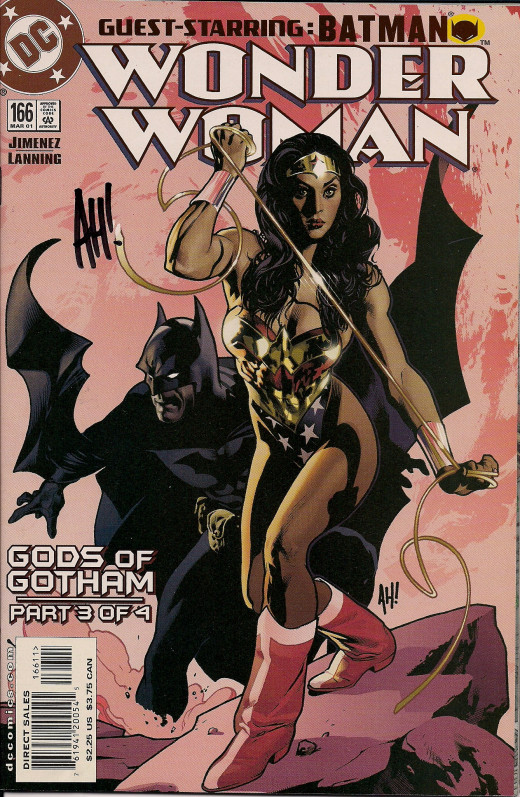 Wonder Woman #166 cover. Art by Adam Hughes.