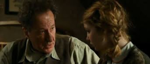 Geoffrey Rush and Sophie Nelisse star in the WWII drama The Book Thief