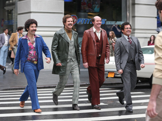 From left:  Paul Rudd, Will Farrell, David Koechner and Steve Carell make up the GNN news team.