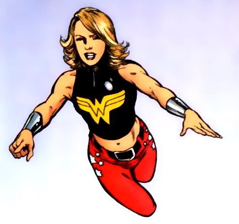 Cassie Sandsmark, the current Wonder Girl.