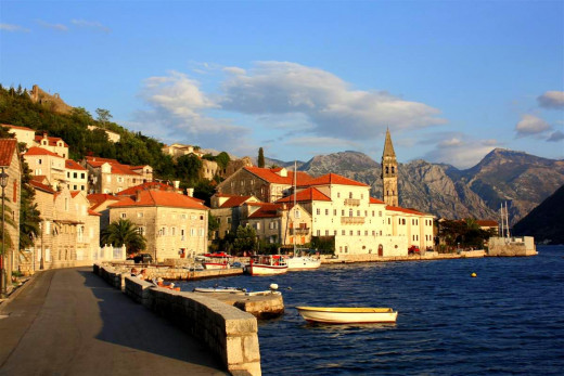 The beautiful coastline in Montenegro