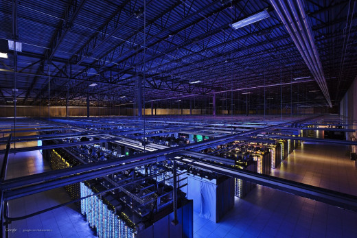 Google data center. Humor - I am extremely terrified of Google...