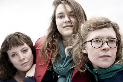 Amelia Meath (left) with the folk trio Mountain Man. She has since become one half of Sylvan Esso, one of my favorite musical discoveries of 2013.