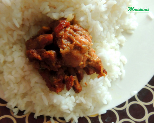 Nwabi Murg with Basmati Rice
