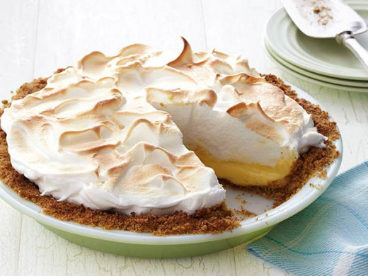 Lemon Meringue Pie Source: http://www.foodnetwork.com/recipes/food-network-kitchens/magic-lemon-meringue-pie-recipe/index.html