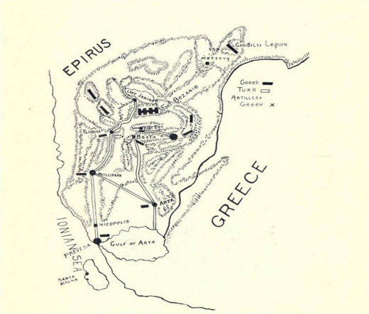 A sketch of the Epirus Theater of Operations.