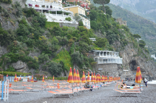Beach at Positano from Tony deLorger