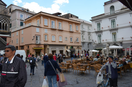 The square at Amalfi from Tony DeLorger