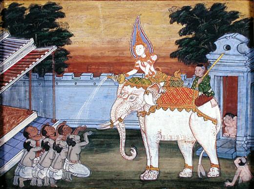 A royal White Elephant.