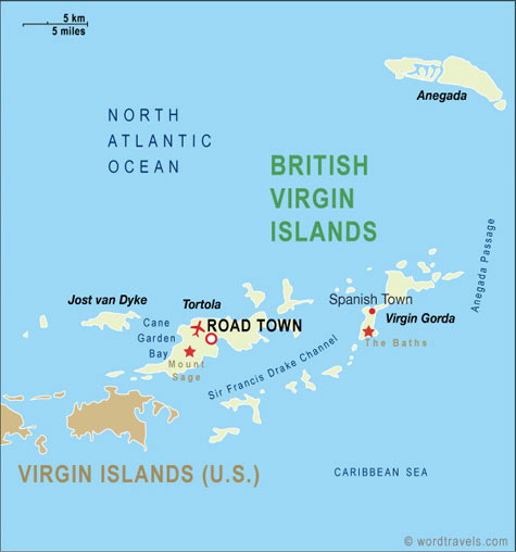Road Town in Tortola is the capital of the  BVI.  The Francis Drake Channel is the main passage way between the islands.