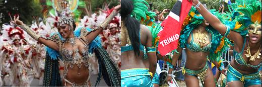 Right one is Notting Hill Carnival; Left one is Labour Day Carnival