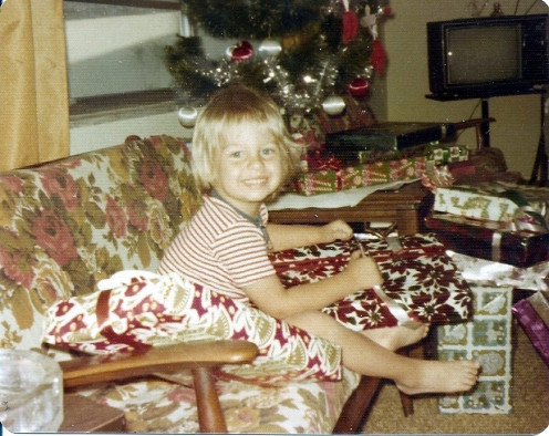 Little Chuckie on Christmas Day 1974