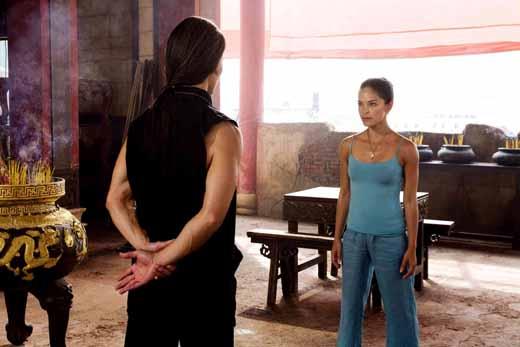 Chun Li gets ready to train with her mentor