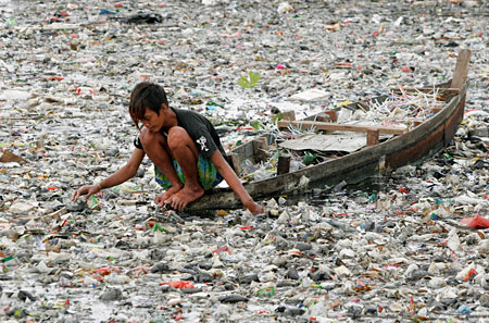 The oceans are becoming a waste dump for plastic refuse of all kinds. There are several plastic archipelagos in the world's oceans.