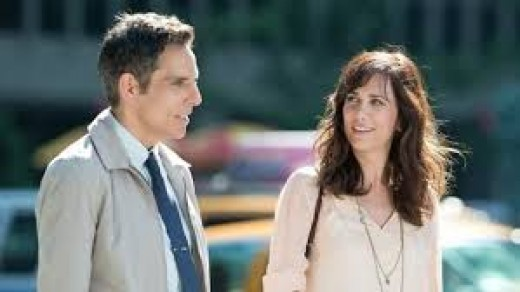 Ben Stiller stars and directs the reimagining of The Secret Life of Walter Mitty.  Kristin Wiig plays a co-worker who also happens to be the girl of his dreams