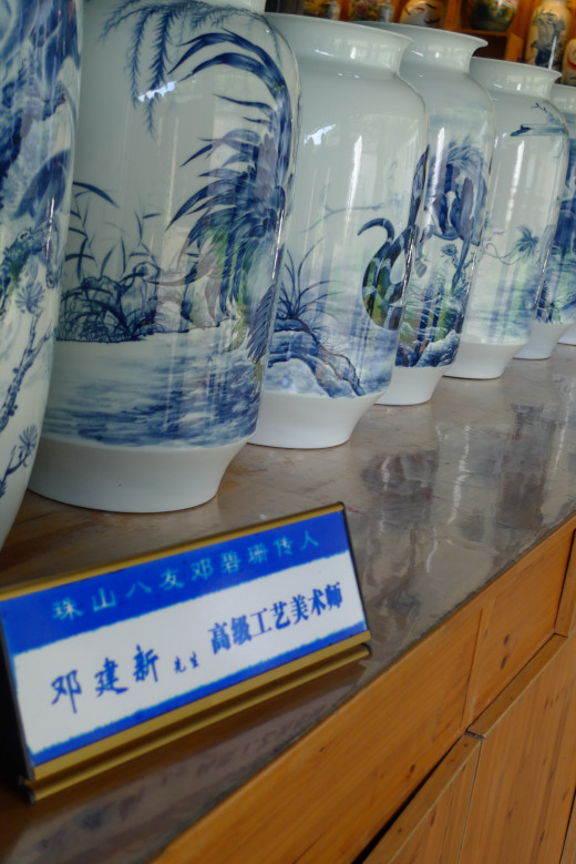 Ceramic Vases on Display