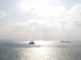 Tea Kettle Island, located in front of Taejongdae.