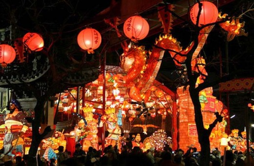 In Japan: It's truly a bright and sparkling New Year in Japan, with all these lights and lanterns.