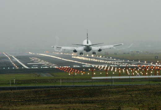 Lights of an IFR approved runway