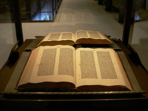A picture of the Gutenburg bible taken by Henry Trotter.  This copy is found at the Yale University.