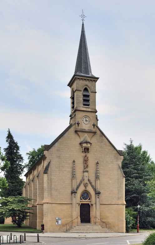 Luxembourg City: Glacis Chapel, inaugurated in 1885