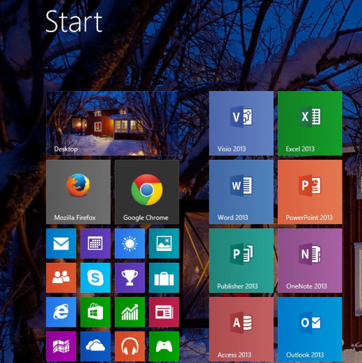 Tile sizes can now be made smaller than in Windows 8