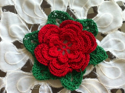 The unique crochet of the Irish Rose.