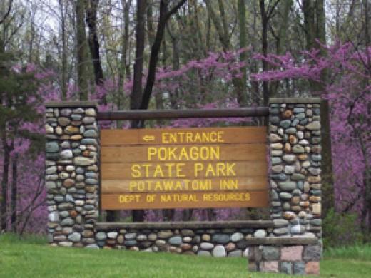Pokagon State Park Entrance