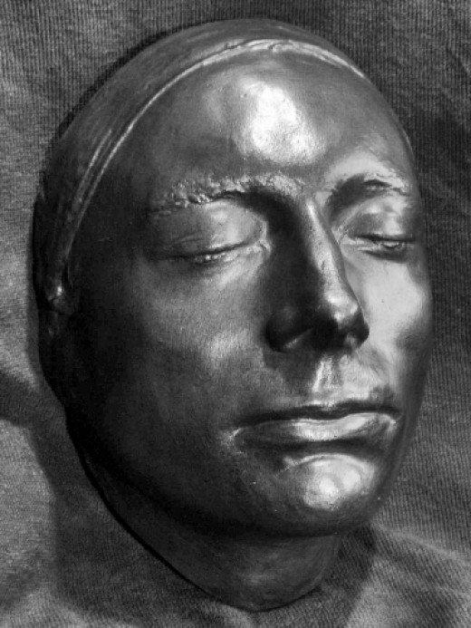 A life mask of Keats made in 1816 by Benjamin Haydon.