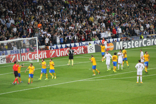 Real Madrid vs Juventus Champions League match, 24 October 2013.