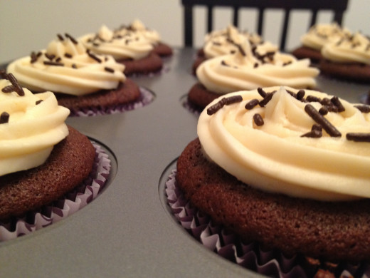 Kahlua Cupcakes with Bailey's Buttercream