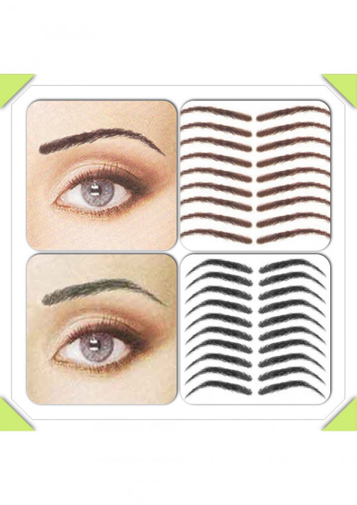 Aaliyah Brows (top left & right) and the Angela Brows (bottom left & right)