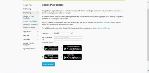 "This is the Badge Generator which can generate a ""Get It On Google Play"" badge suited to your app or game."